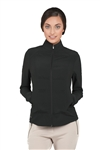 Chase54 Ladies Republic Perforated Zip Golf Jacket - Black