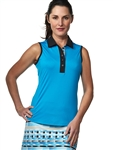 Chase54 Ladies Aegean Sleeveless Golf Polo
