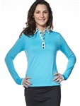 Chase54 Ladies Fira Long Sleeve Polo