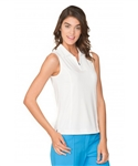 Chase54 Ladies Kendall Sleeveless Polo - Pearl