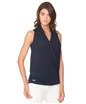 Chase54 Ladies Famke Drape Tank Top - Navy
