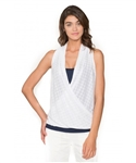 Chase54 Ladies Famke Drape Tank Top - Pearl