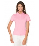 Chase54 Ladies Brooklyn Short Sleeve Polo - Soft Pink