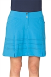 Chase54 Connie Perforated Golf Skort - French Blue