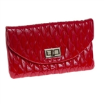 Cutler Sports Golf - Diana Red Velvet Envelope Clutch