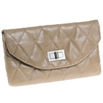 Cutler Sports Grace Beige Quilt Clutch