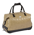 Cutler Sports Grace Beige Quilt Travel Duffel