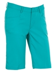 AUR Ladies Solid Stretch Golf Short Malibu Green