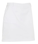 AUR Women's Solid Stretch Golf Skort White