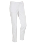 AUR Ladies Solid Stretch Cropped Golf Pant White