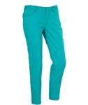 AUR Ladies Solid Stretch Cropped Golf Pant Malibu