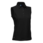 Daily Sports Macy Sleeveless Polo Black