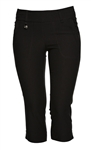 Daily Sports Magic Pull On Golf Capri Black