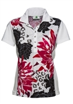 Daily Sports Janis Floral Cap Sleeve Golf Polo