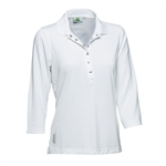 Daily Sports Mindy 3/4 Sleeve Polo - White