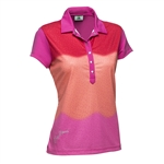 Daily Sports Fancy Cap Sleeve Polo - Lotus/Campari