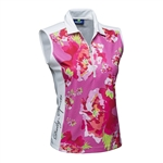 Daily Sports Candice Sleeveless Polo Lotus Floral