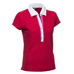 Daily Sports Shea Cap Sleeve Polo - Campari Red