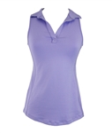 EllaBelle Perfect Sleeveless Polo - Lilac