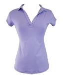 EllaBelle Perfect Short Sleeve Polo - Lilac