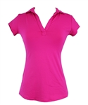 EllaBelle Perfect Short Sleeve Polo - Poppy Pink