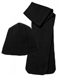 FILA Golf Scarf and Beanie Set Black | Golf4Her