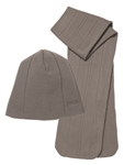 FILA Golf Scarf and Beanie Set Coyote Brown | Golf4Her