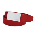 FILA Red Leather Golf Belt