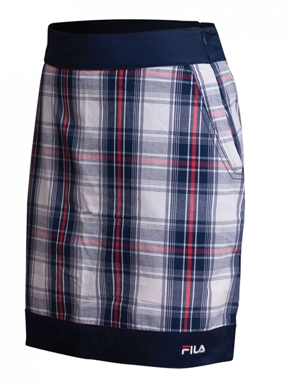 FILA Geneva Plaid Golf Skort Fila Navy