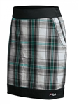 FILA Geneva Plaid Golf Skort Black