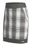 FILA Geneva Plaid Golf Skort Silver