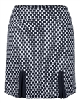 Tail Juliet Pleat Golf Skort - Oxford Print