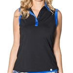 GG Blue Jody Sleeveless Golf Top Black/Royal