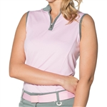 GG Blue Juno Sleeveless Golf Top Pink/Fern