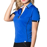 GG Blue Cori Short Sleeve Ladies Golf Polo - Royal