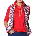 GG Blue Freya ¾ Sleeve Golf Polo - Red