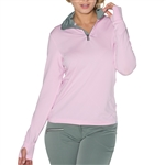 GG Blue Suzie Long Sleeve Mock Top - Pink/Fern