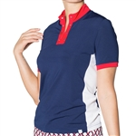 GG Blue Mika Short Sleeve Ladies Golf Polo Liberty Blue