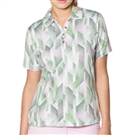 GG Blue Coco Short Sleeve Ladies Golf Polo - Grace/Pink