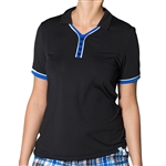 GG Blue Kira Short Sleeve Ladies Golf Polo