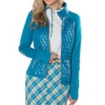 GG Blue Nikita Golf Jacket - Peacock with Sand