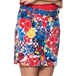 GG Blue Dunes Golf Skort - Inspiration Print
