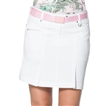 GG Blue Linx Golf Skort - White