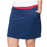 GG Blue Leah Golf Skort - Liberty Cable/Red