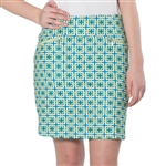 GG Blue Ruby Golf Skort - Limetini with Lime