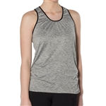 GG Blue Charity Fitness Tank Top- Light Grey with Black