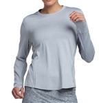 GG Blue Celeste Long Sleeve Fitness Top - Sleet