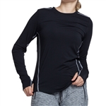 GG Blue Celeste Long Sleeve Fitness Top - Black