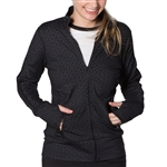 GG Blue Faith Fitness Jacket- GG Print Black