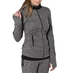 GG Blue Faith Fitness Jacket Charcoal/Black
